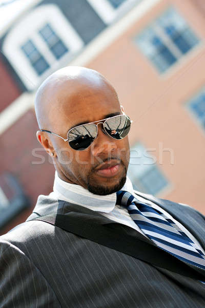 African American Business Man In the City Stock photo © arenacreative