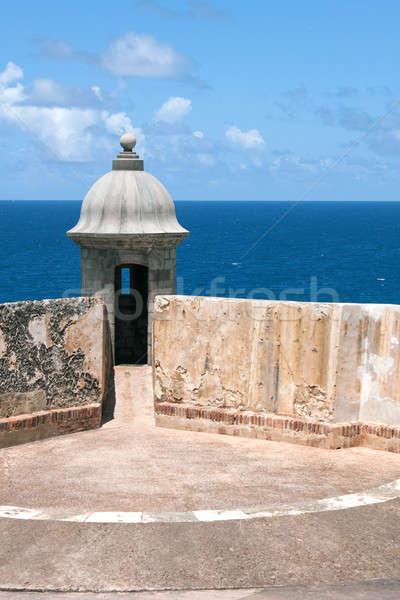 El Morro Fort Sentry Watchtower Stock photo © ArenaCreative
