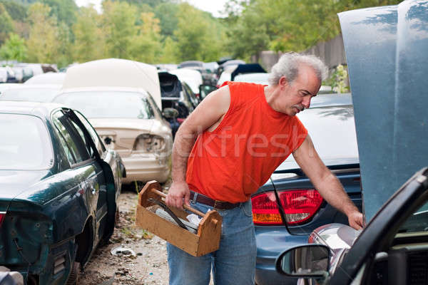 Backyard Mechanic Junk Yard Shopping Stock photo © ArenaCreative