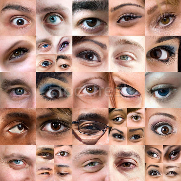 Abstract Variety of Eyes Montage Stock photo © ArenaCreative