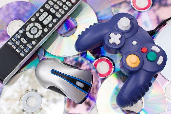 Сток-фото: современных · СМИ · пультом · беспроводных · Компьютерная · мышь · видеоигра