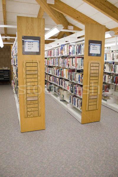 общественного библиотека Полки полный книгах образование Сток-фото © ArenaCreative