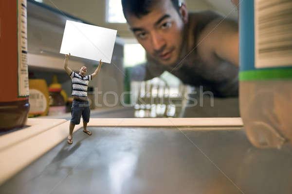Little Man Inside the Fridge Stock photo © ArenaCreative
