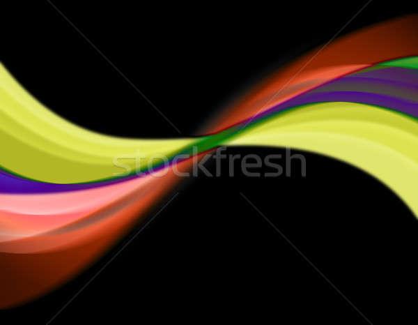 Absztrakt szivárvány örvény hullámos elrendezés nagyszerű Stock fotó © ArenaCreative