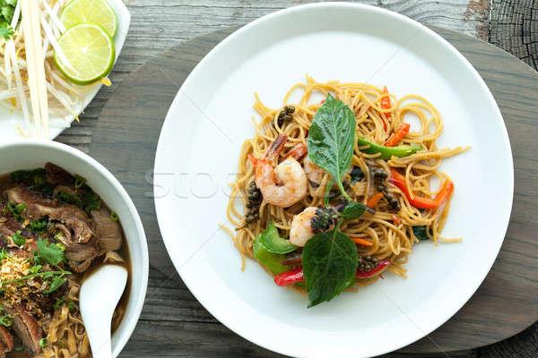 Thai Shrimp with Noodles Stock photo © arenacreative