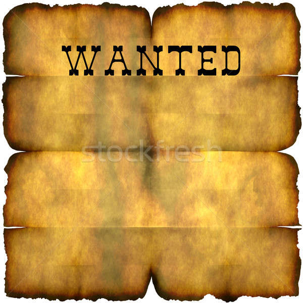 Wanted Poster Stock photo © ArenaCreative