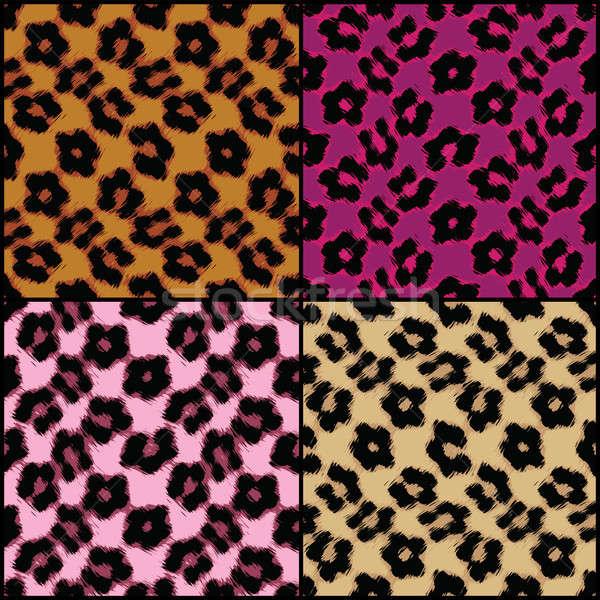 Leopar baskı fayans renkler Stok fotoğraf © ArenaCreative