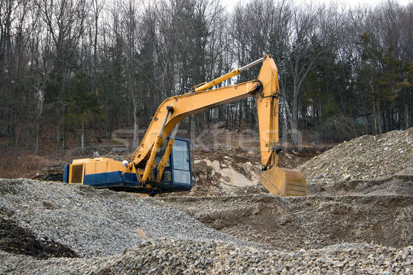 Construction lourd machines vue devoir Photo stock © ArenaCreative