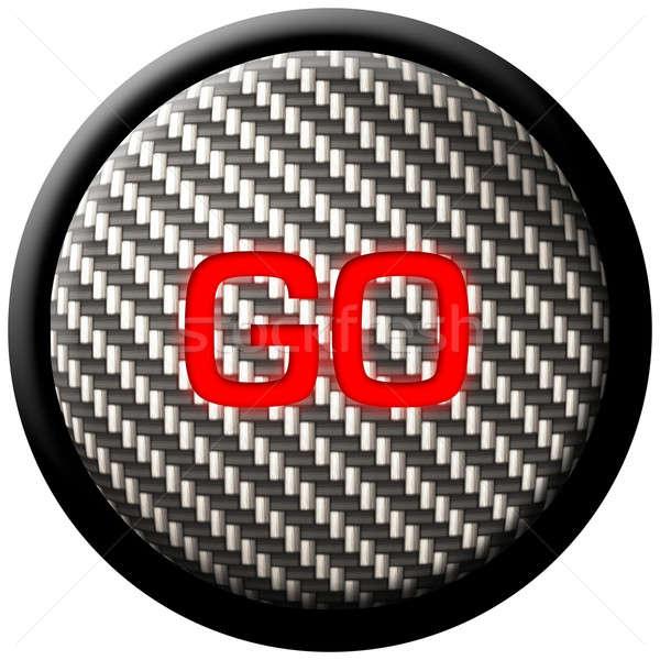 Carbon Fiber GO Button Stock photo © ArenaCreative