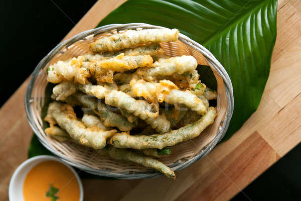 Fried Tempura Asparagus Stock photo © arenacreative
