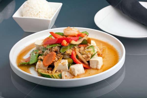 タイ 豆腐 皿 スタイル エビ ストックフォト © ArenaCreative