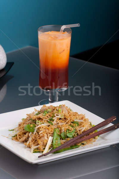 Thai Lo Mein Noodles Dish Stock photo © ArenaCreative