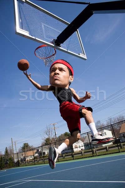 Stock photo: Big Head Basketball Player