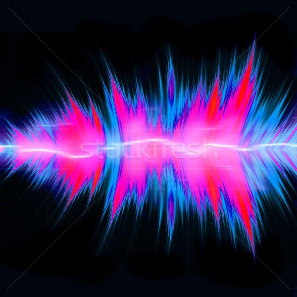 Erőteljes audio hullámok grafikus hangszínszabályozó hullámfoma Stock fotó © ArenaCreative