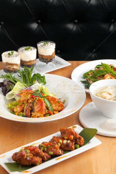 тайская еда тайский таблице Сток-фото © arenacreative