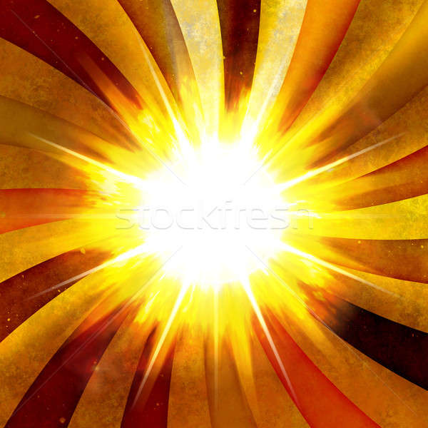 Fiery Radial Burst Stock photo © ArenaCreative