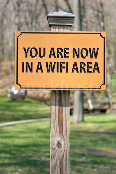 Wifi signo ahora inalámbrica Internet negocios Foto stock © ArenaCreative