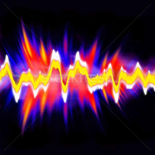 Audio hullámfoma funky neon izzó grafikus Stock fotó © ArenaCreative