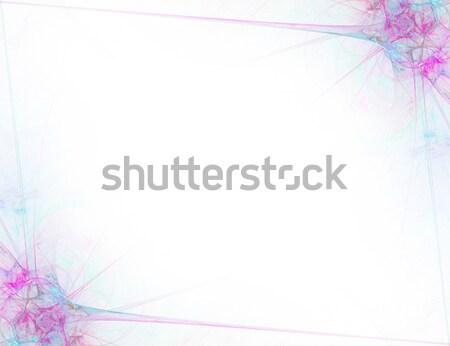 フラクタル 国境 抽象的な レイアウト ストックフォト © ArenaCreative