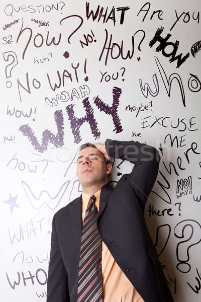 Stock photo: Worried Business Man