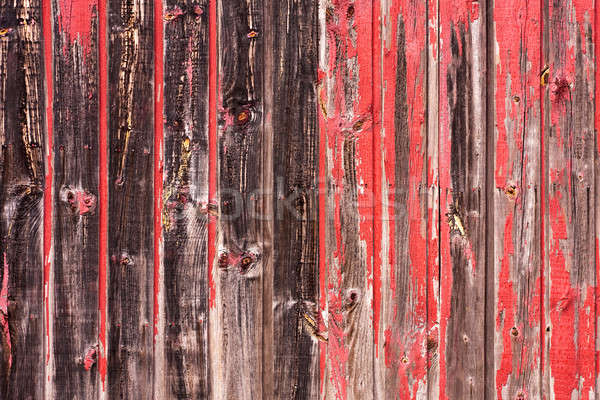 Red Painted Wood Paneling Stock photo © ArenaCreative