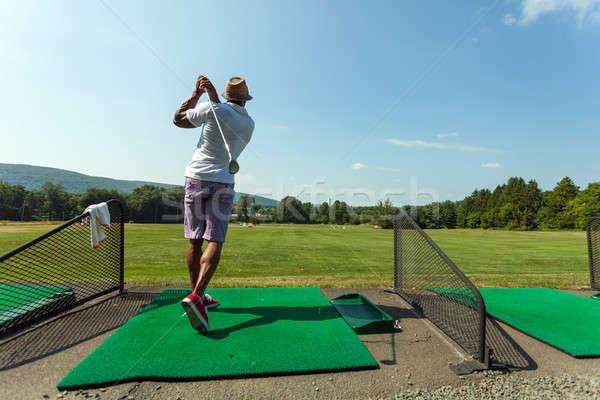 Conduite gamme golf Swing athlétique golfeur Photo stock © arenacreative