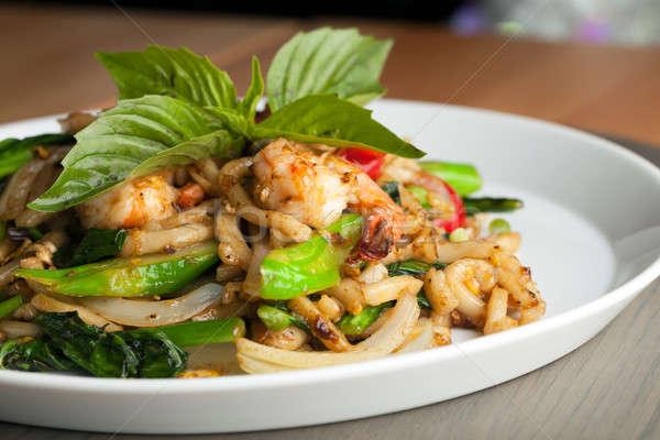 Thai Seattle keverés thai étel tészta sekély Stock fotó © arenacreative