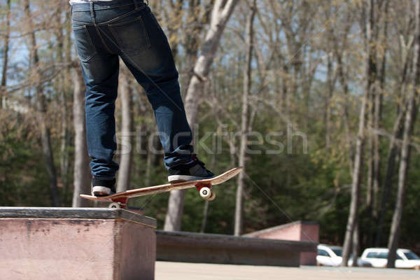 Skateboarder on a Grind Rail Stock photo © ArenaCreative