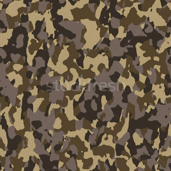 Brown Seamless Army Camouflage Stock photo © ArenaCreative