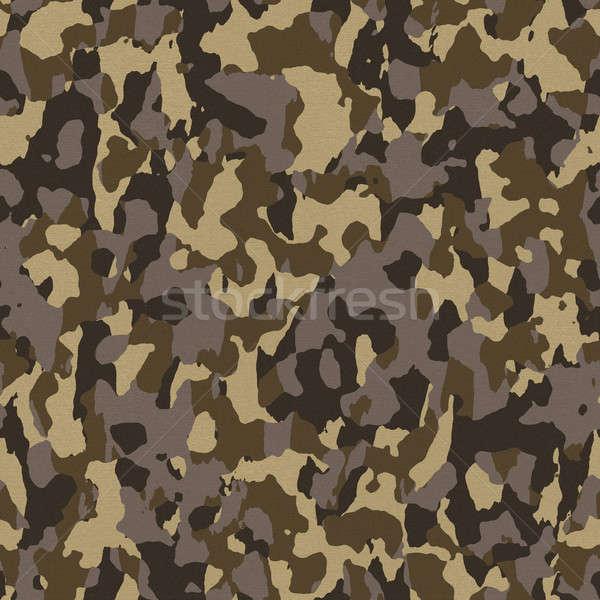 Brązowy bezszwowy armii kamuflaż tekstury płytek Zdjęcia stock © ArenaCreative