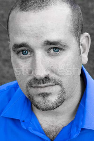 Blue Eyed Man Stock photo © ArenaCreative