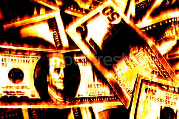Money Burning Stock photo © ArenaCreative