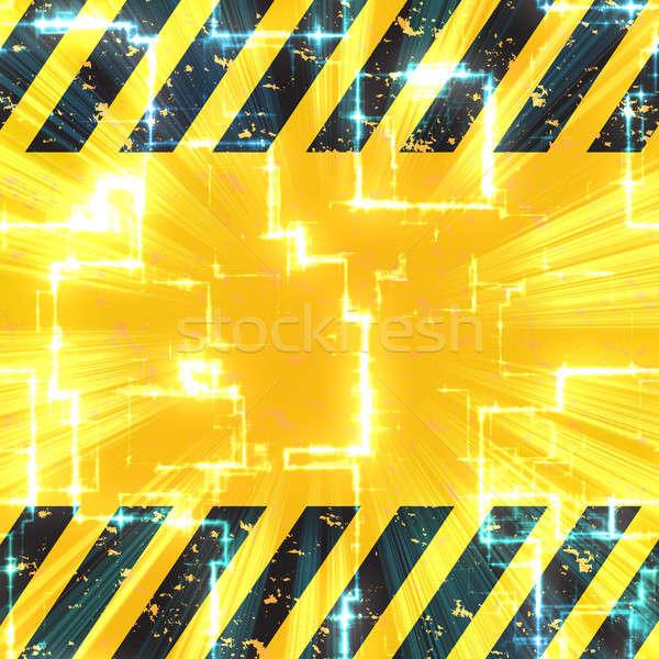 Stok fotoğraf: Yüksek · teknoloji · tehlike · siyah · sarı