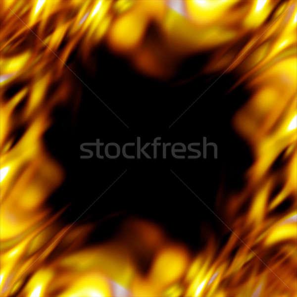 Ardiente frontera gráfico llamas caliente fuego Foto stock © ArenaCreative