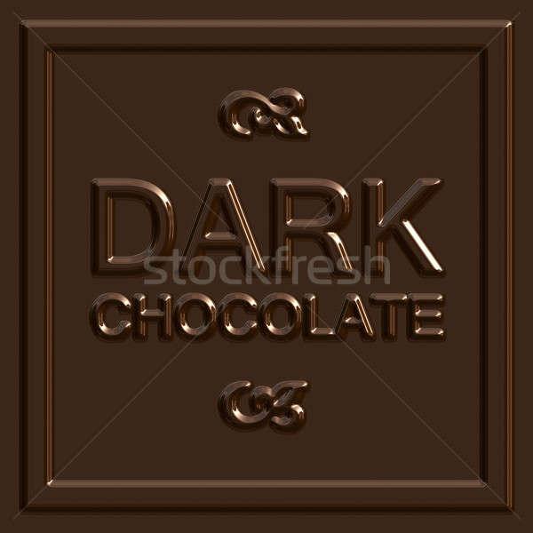 Chocolate oscuro cuadrados cuadros patrón aislado Foto stock © ArenaCreative
