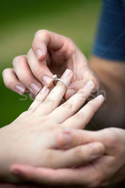 Diamond Engagement Ring Stock photo © ArenaCreative