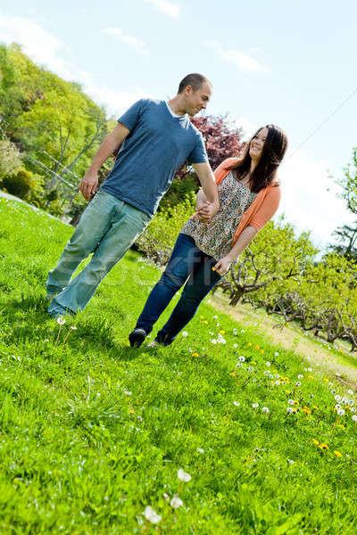 Couple Walking During Spring Stock photo © ArenaCreative