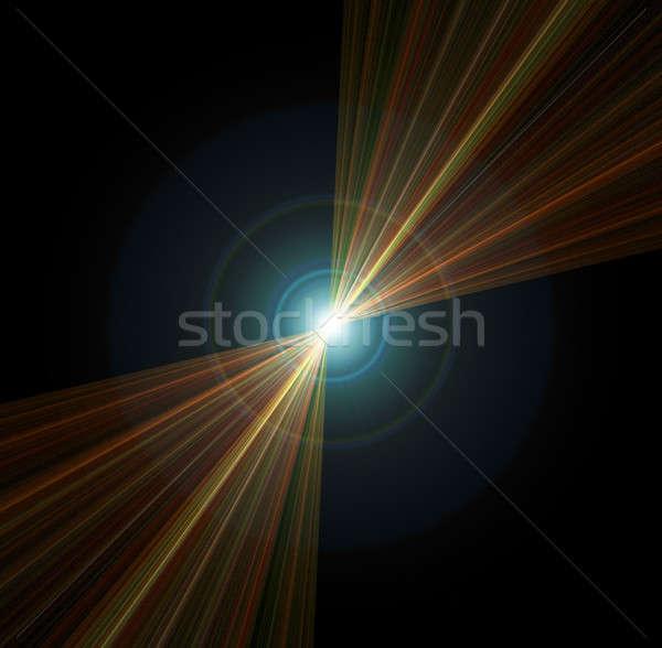 Abstract vortice illustrazione centrale punto Foto d'archivio © ArenaCreative