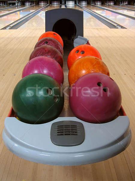 Colorful Bowling Balls Stock photo © ArenaCreative