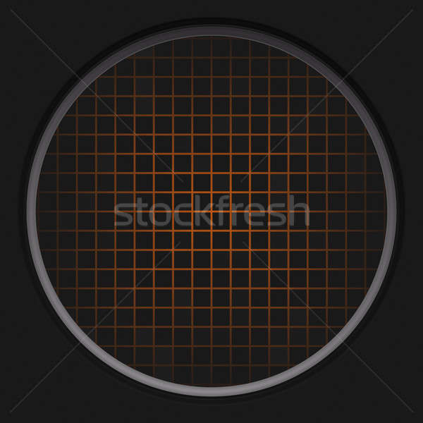 Naranja radar red circular negro textura Foto stock © ArenaCreative