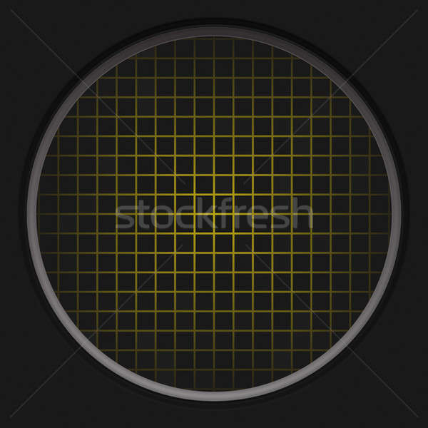 Amarillo radar red circular negro textura Foto stock © ArenaCreative