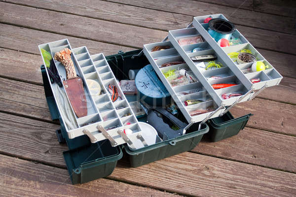 Fishing Tackle Box Stock photo © ArenaCreative