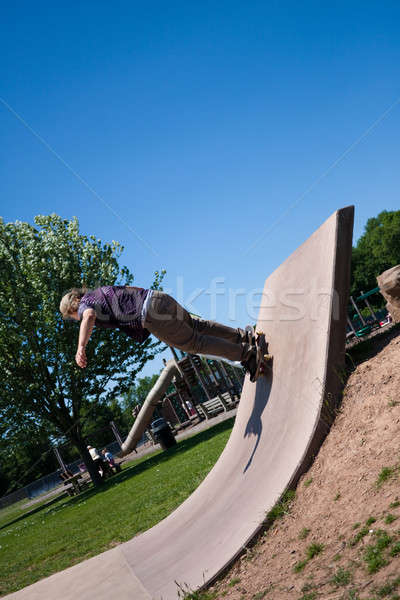 Skate Park Concrete Skate Ramp Stock photo © ArenaCreative
