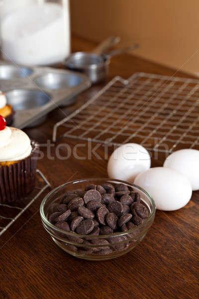 Bakers Chocolate Chips Stock photo © ArenaCreative