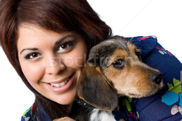 Girl With a Puppy Stock photo © ArenaCreative