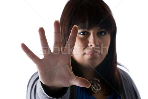 Woman Saying STOP Stock photo © ArenaCreative