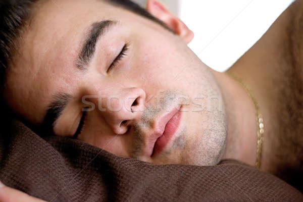 Sleeping Man Stock photo © ArenaCreative