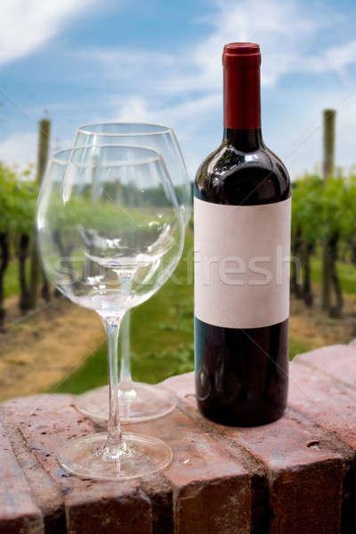 Vineyard Wine Bottle Stock photo © ArenaCreative