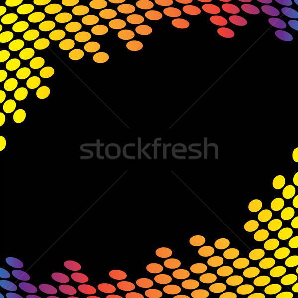Audio Waveform Border Stock photo © ArenaCreative