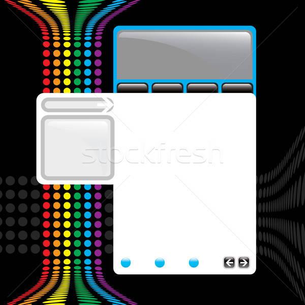 Colorful Website Template Stock photo © ArenaCreative